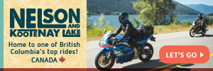 Motorcycle Rental Locations Map Nelson Kootenay Lake by Motorcycle